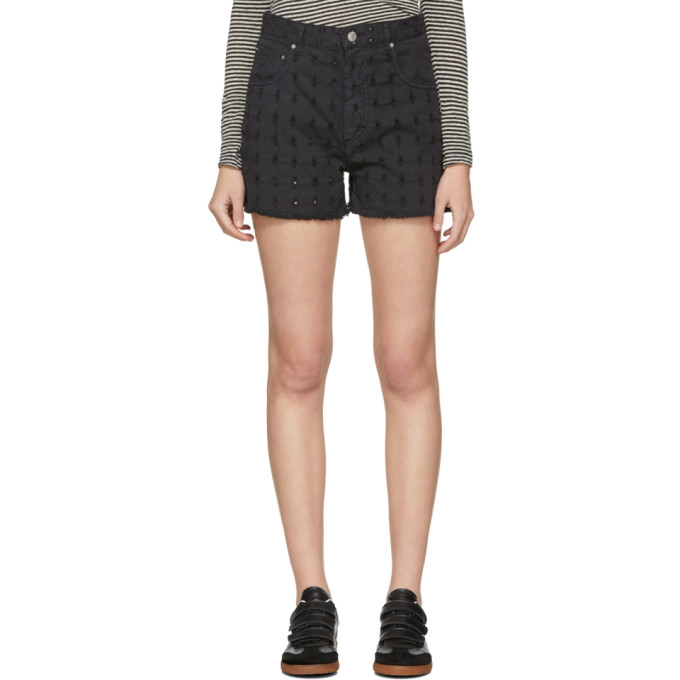 Isabel Marant Etoile Black Denim Felsey Shorts