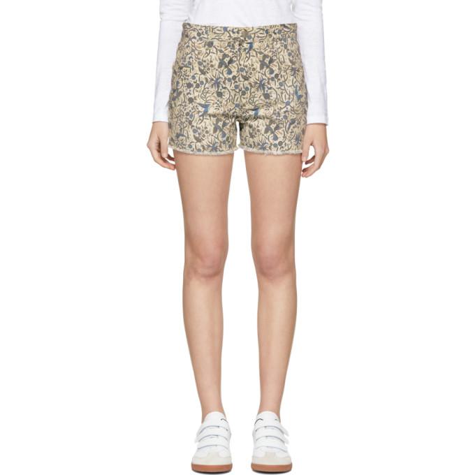 Isabel Marant Etoile Ecru Denim Uruguay Shorts