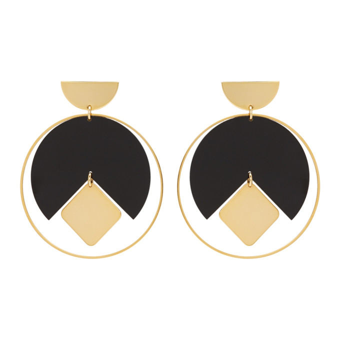 216e61d737 Isabel Marant Gold and Black Seriously Earrings