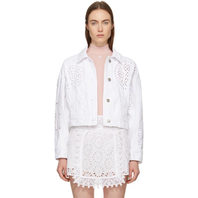 Denim Isabel Rena White Marant Embroidered Jacket 80PymnwvON