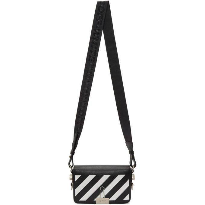 Off-White Black & White Mini Diagonal Binder Clip Bag