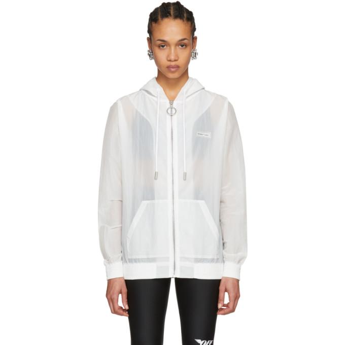 Off-White White Transparent Nylon Zip Hoodie