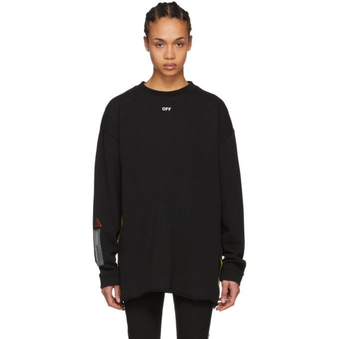 Off-White Black Logo Tape Sweatshirt