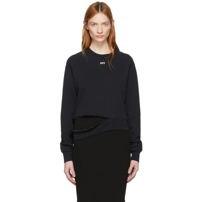 Off White Black 'off' Deconstruction Crewneck Sweatshirt