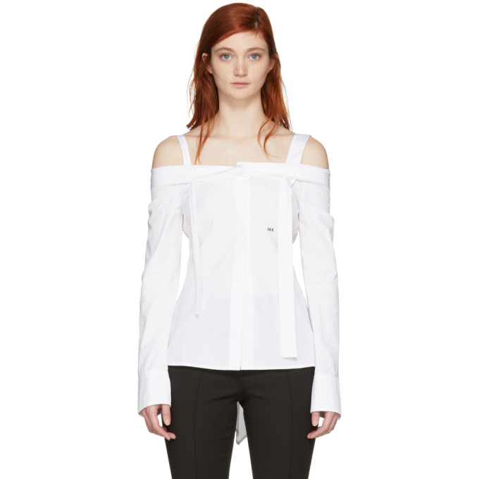 Off White White 'off' Off The Shoulder Shirt