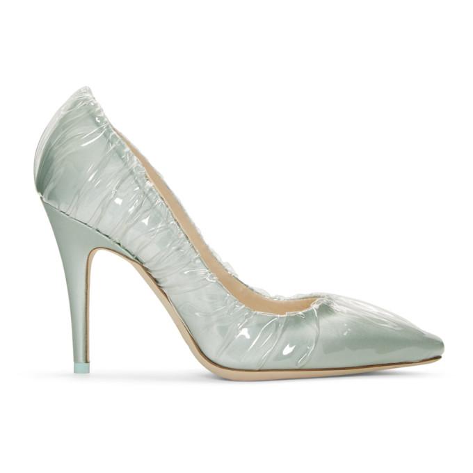 Off White Blue Jimmy Choo Edition Annie Heels