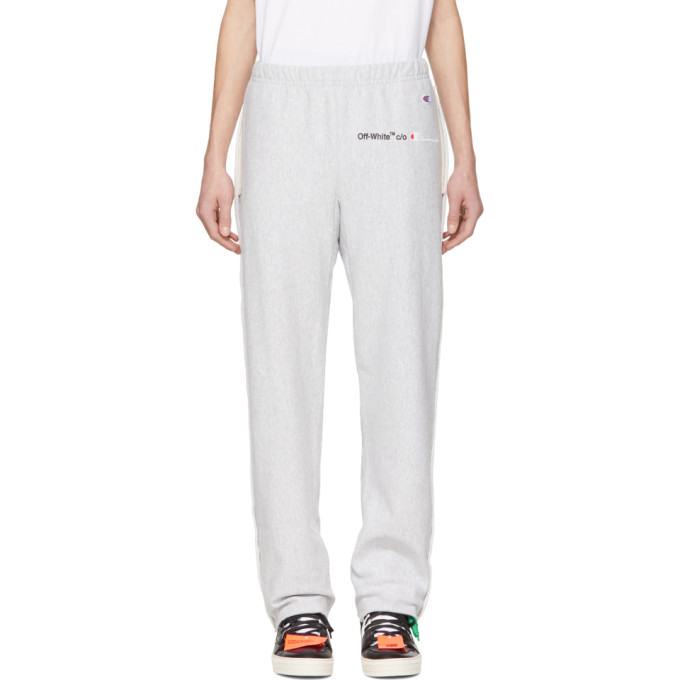 Off White Grey Champion Edition Sweatpants