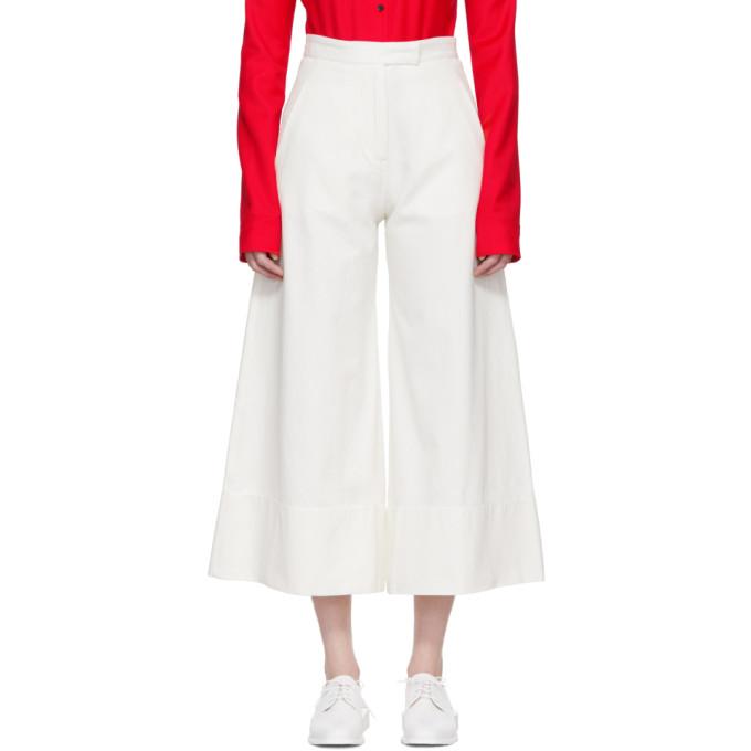 Image of Studio Nicholson Ivory Blaze Wide Culottes