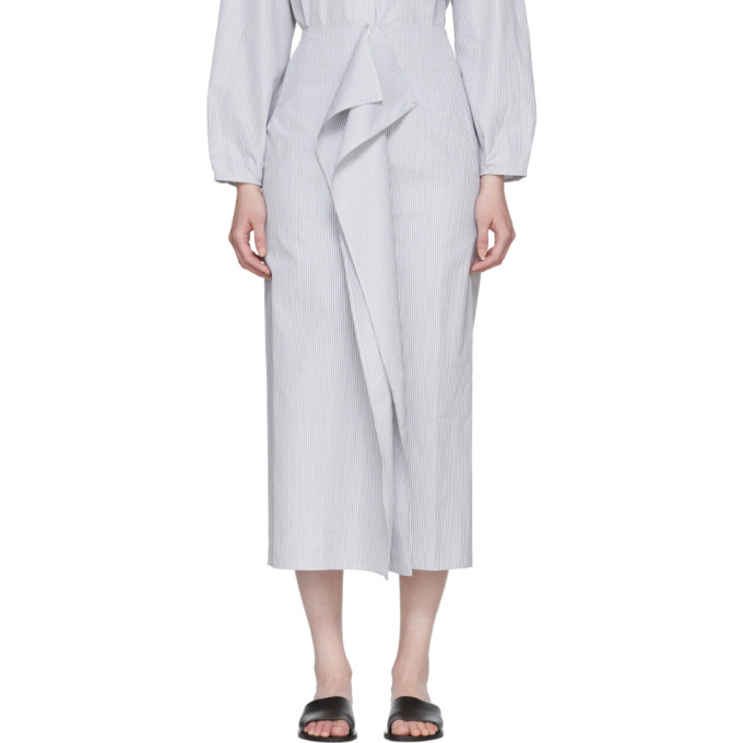Image of Studio Nicholson Grey & White Folded Split Skirt
