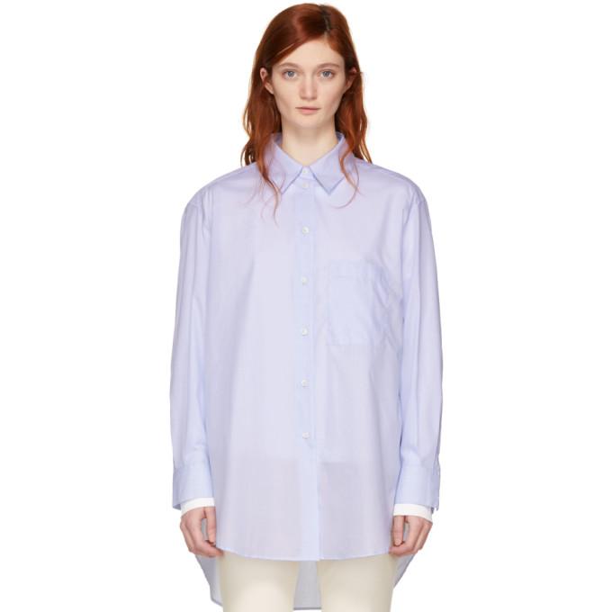 Image of Studio Nicholson Blue Claxon Oversized Shirt