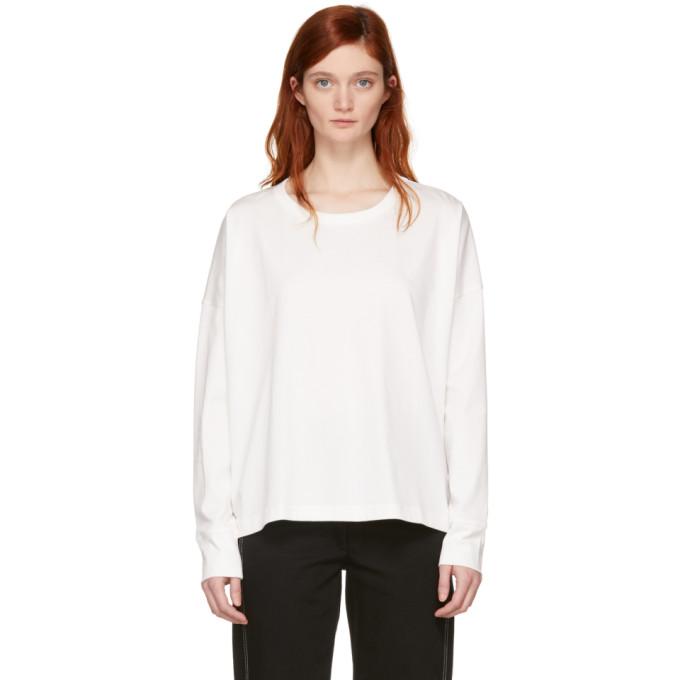 Studio Nicholson White Long Sleeve Loop T-Shirt
