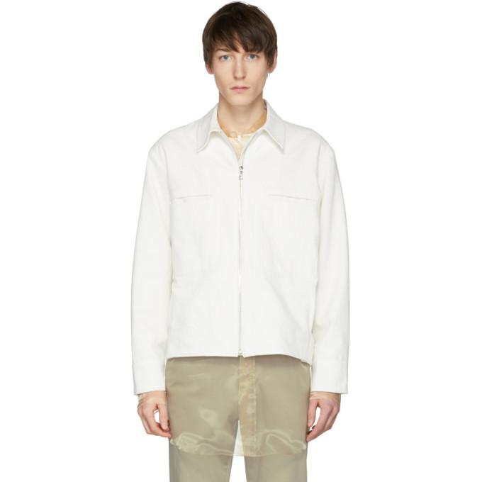 Image of Studio Nicholson Ivory Marque Caban Jacket
