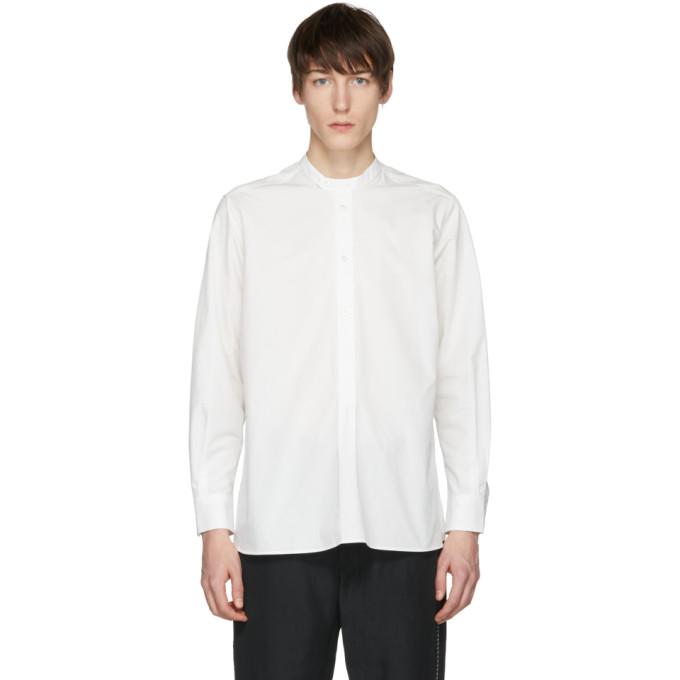 Image of Studio Nicholson Ivory Cube Click Half Placket Shirt