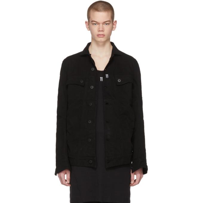 11 by boris bidjan saberi male 11 by boris bidjan saberi black denim shaped jacket