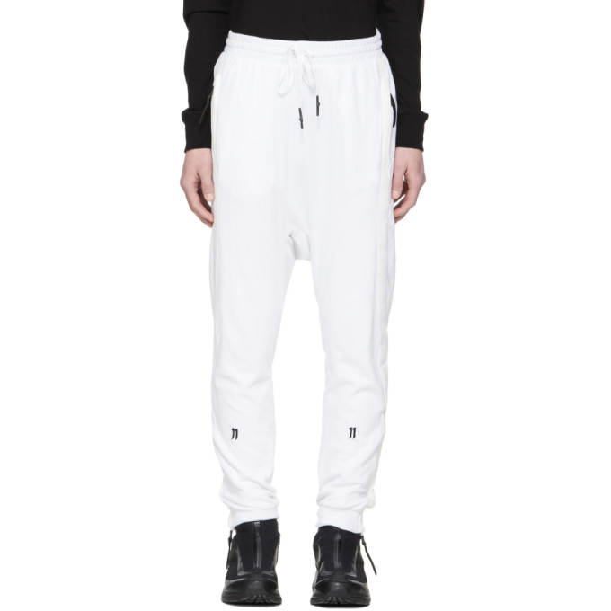 11 by Boris Bidjan Saberi White Logo Tape Lounge Pants