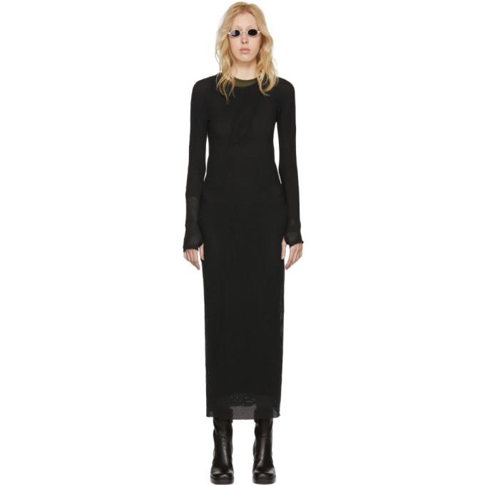 Image of Boris Bidjan Saberi Black Object Dyed Dress