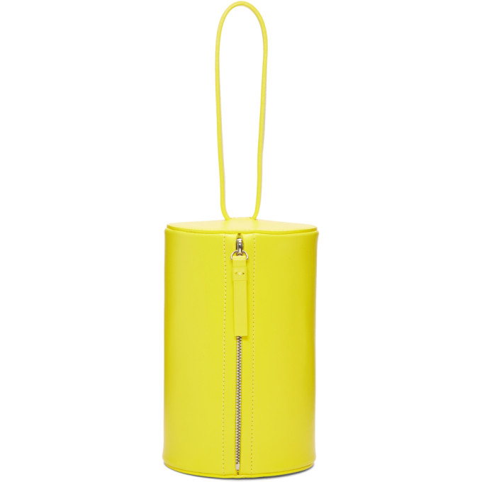 Building Block Yellow Cylinder Wristlet Pouch