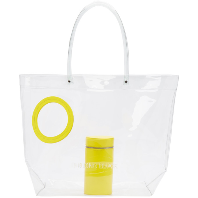 Building Block Yellow Transparent Vinyl Peephole Tote