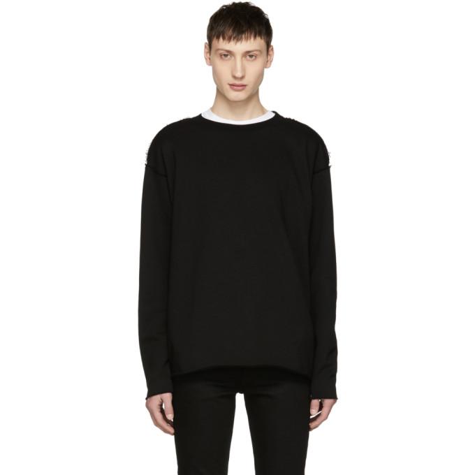 Image of Diet Butcher Slim Skin Black Cut-Off Sweatshirt