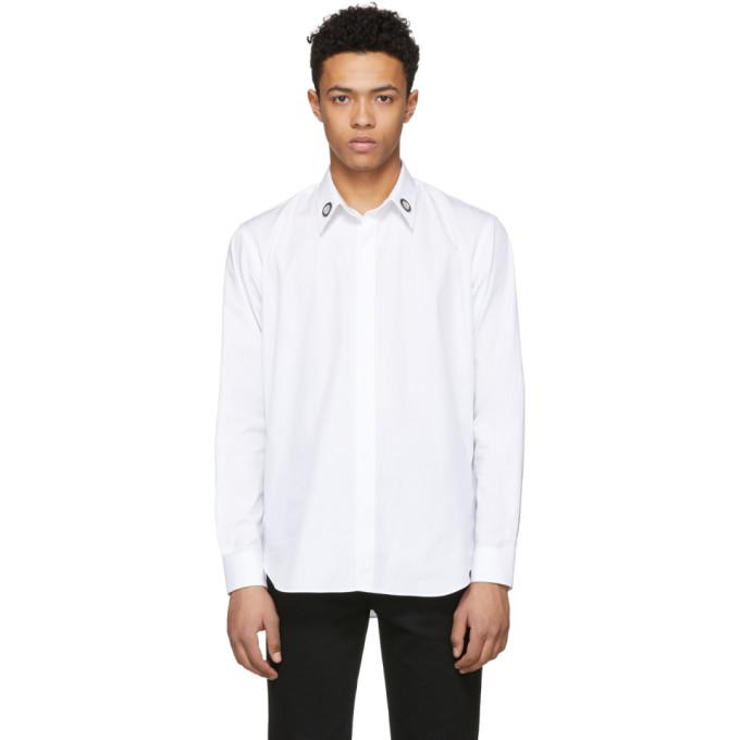 Image of Johnlawrencesullivan White Collar Ring Button-Down Shirt