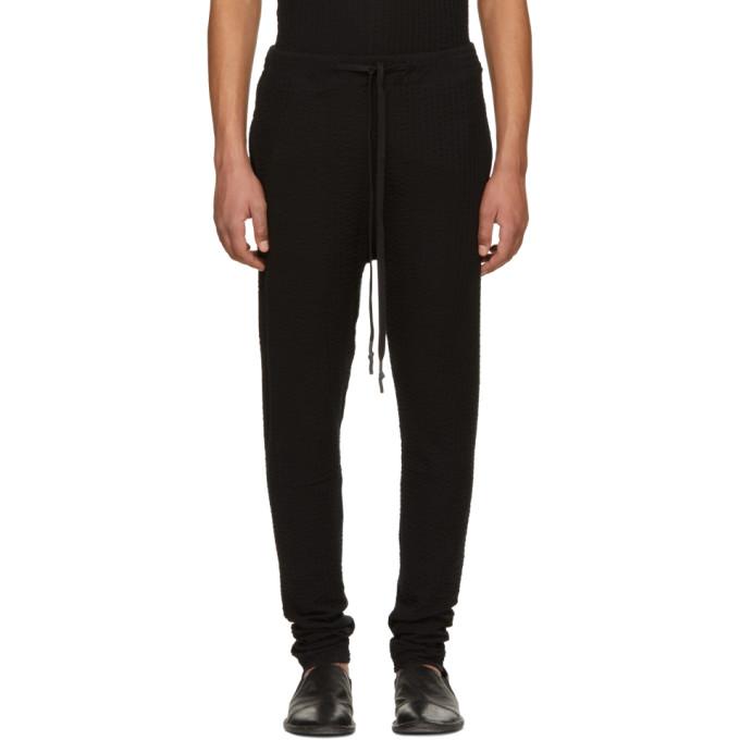 Image of Nude:mm Black Seersucker Jersey Lounge Pants