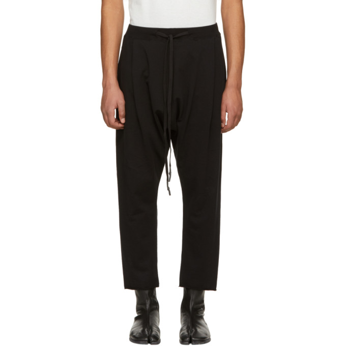 Image of Nude:mm Black French Terry Cropped Trousers