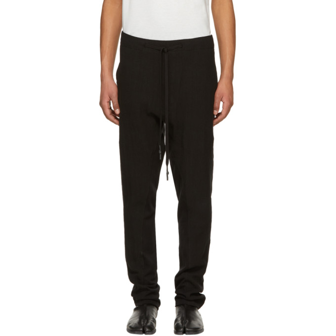 Image of Nude:mm Black Linen Canvas Washing Trousers
