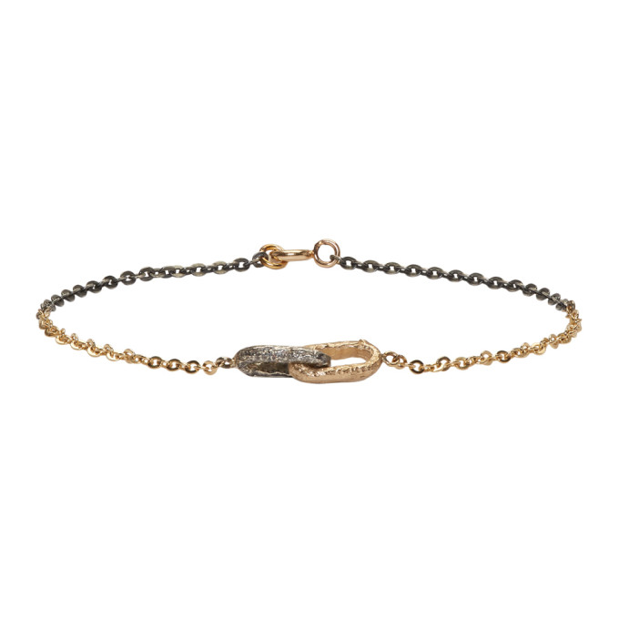 Image of Pearls Before Swine Silver & Gold Double Link Bracelet