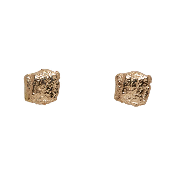 Image of Pearls Before Swine Gold Forged Stud Earrings