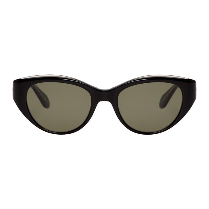 Image of Garrett Leight Black Del Rey Sunglasses