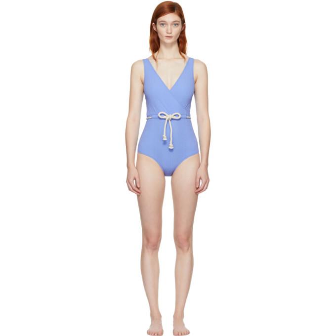 Image of Lisa Marie Fernandez Blue Yasmin Swimsuit