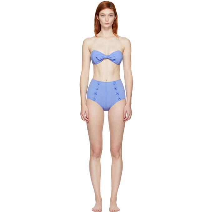 Image of Lisa Marie Fernandez Blue Poppy Bikini