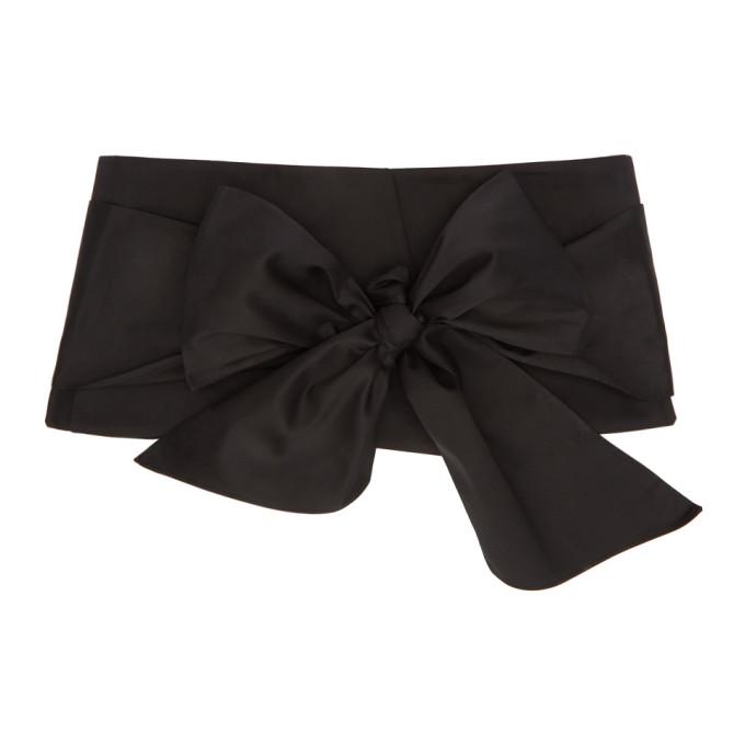 Image of Jil Sander Navy Black Cotton Satin Belt