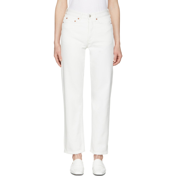 Won Hundred White Pearl Jeans