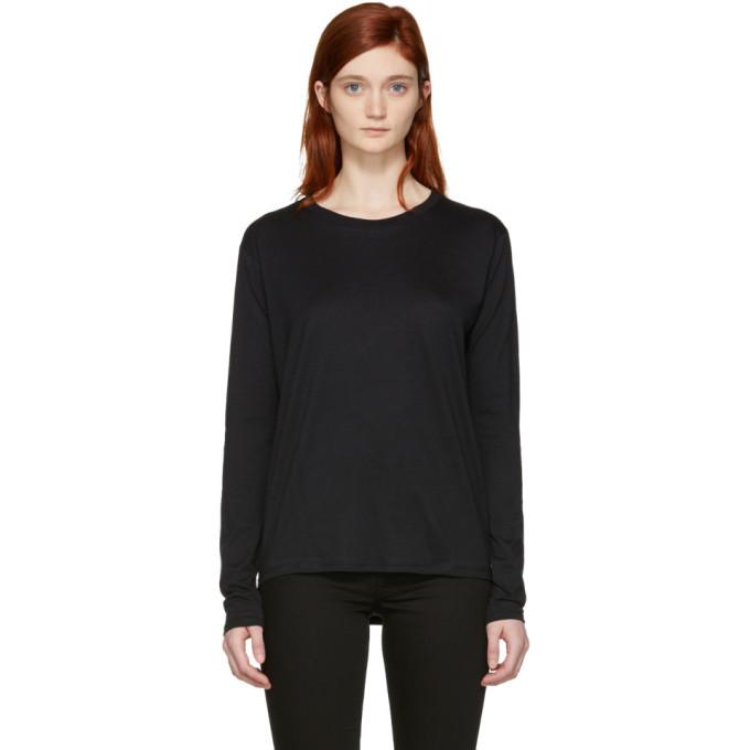 Image of Won Hundred Black Long Sleeve Emina T-Shirt