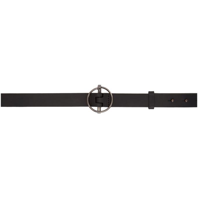Image of OAMC Black Pull Pin Belt