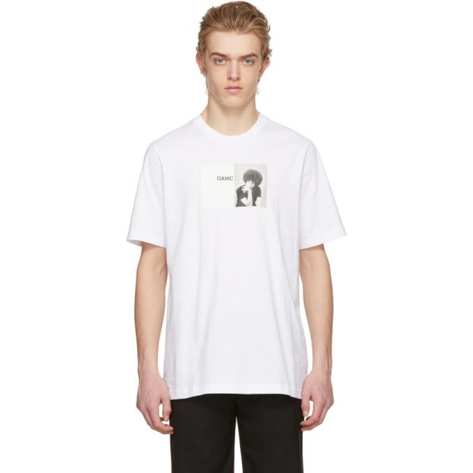 Image of OAMC White Angela Davis T-Shirt
