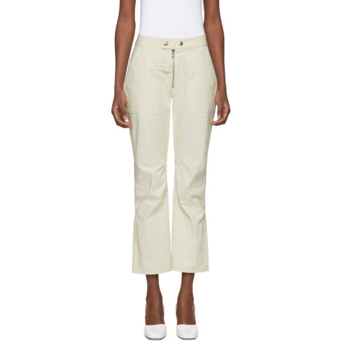 Nomia Beige Moto Trousers