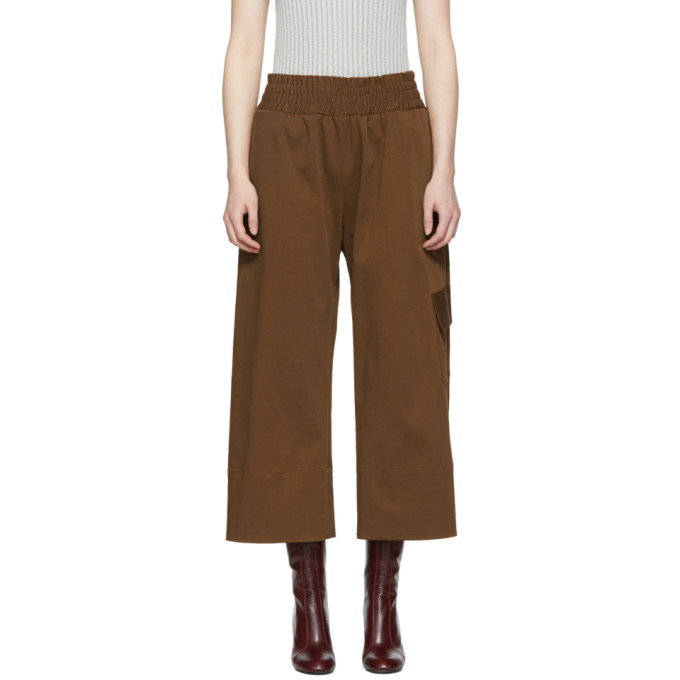 Image of Nomia Brown Gathered Culottes