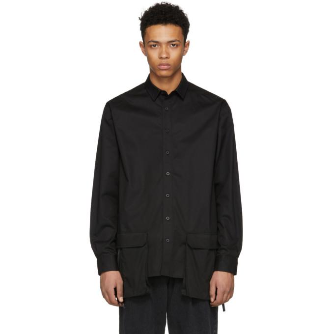 Image of D by D Black Front Pocket Shirt