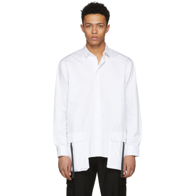 Image of D by D White Front Pocket Shirt