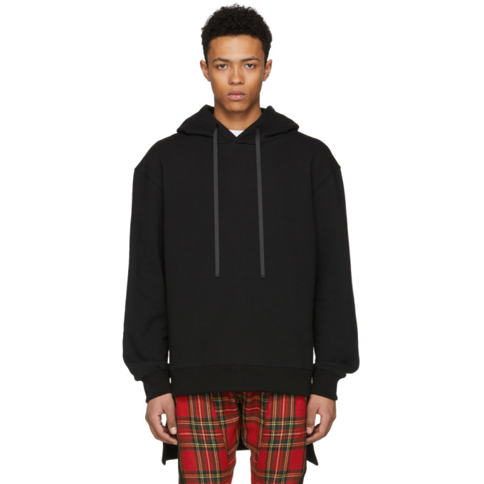 Image of D by D Black High Low Hem Hoodie