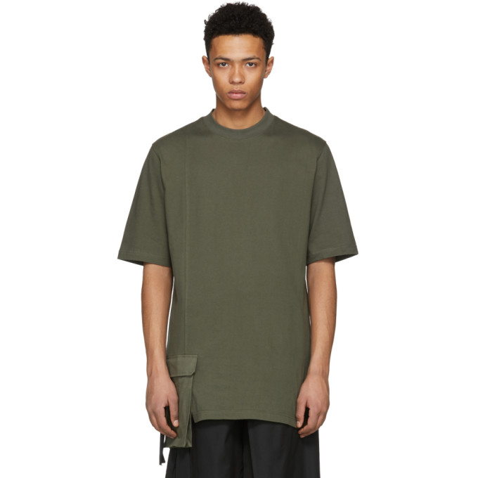 Image of D by D Khaki Front Pocket T-Shirt