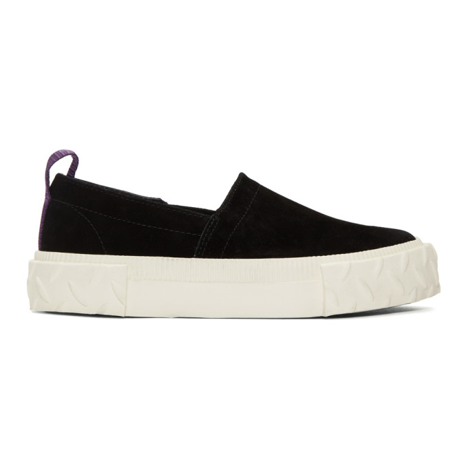Image of Eytys Black Suede Viper S-O Sneakers