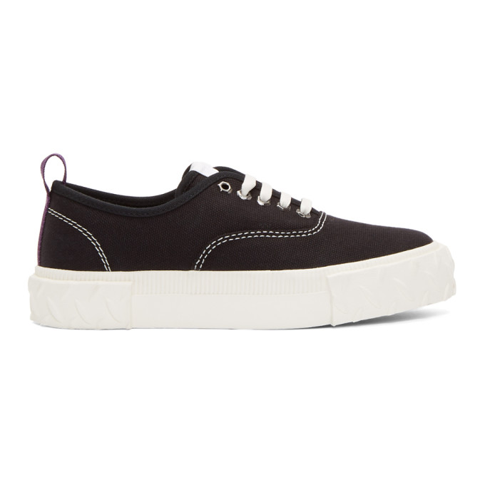 Image of Eytys Black Canvas Viper Sneakers