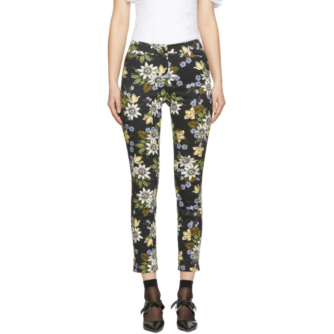 Erdem Black Slim Sidney Trousers