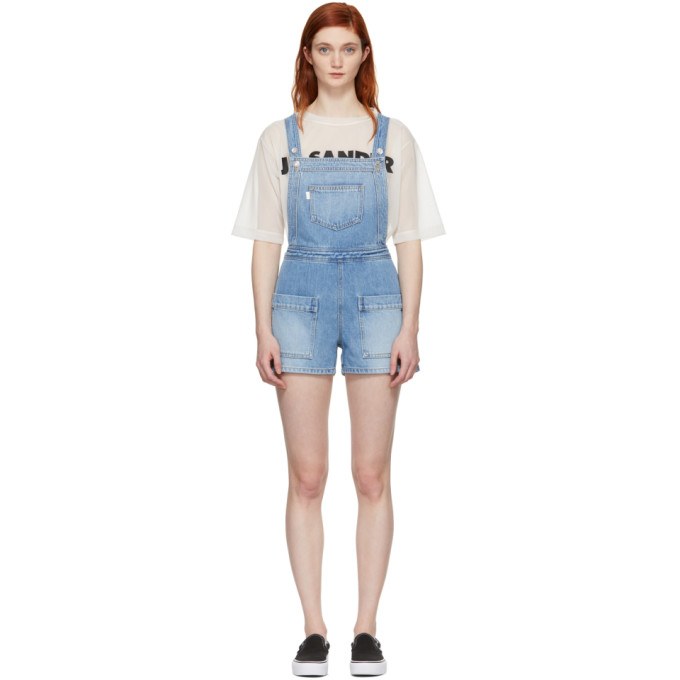 SJYP Blue Denim Short Overalls