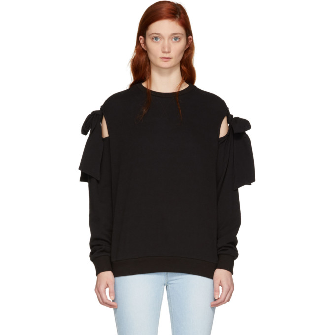 Image of SJYP Black Ribbon Tie Sweatshirt