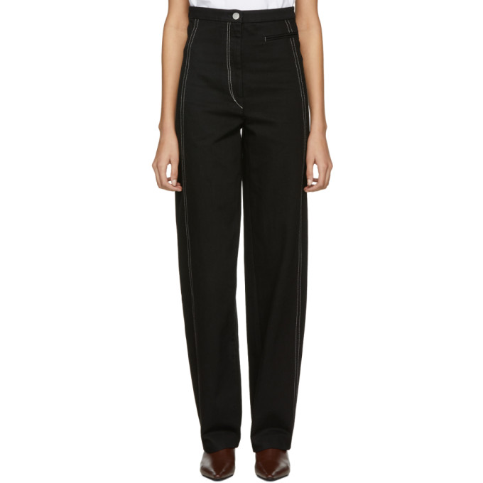 Image of Lemaire Black High-Waisted Jeans