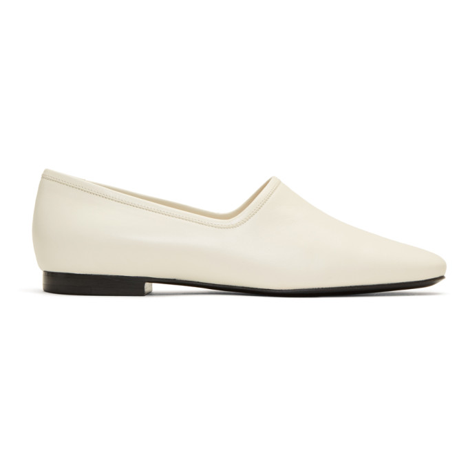 Lemaire Off-White Leather Loafers